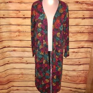 LuLaRoe Colorful Bold Pattern Sarah Duster Cardi